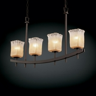 Justice Design GLA-8595 Veneto Luce� Venetian Glass 4  Wide Kitchen Island Lighting