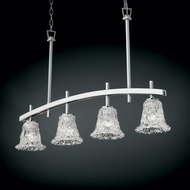 Justice Design GLA-8599 Veneto Luce� Venetian Glass 4  Wide Island Light Fixture