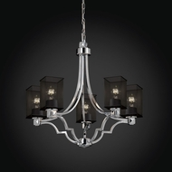 Justice Design MSH-8500 Wire Mesh Contemporary Chandelier Lighting