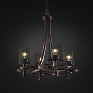 Justice Design MSH-8560 Wire Mesh Contemporary Lighting Chandelier