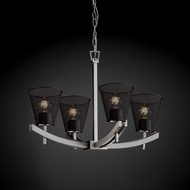 Justice Design MSH-8590 Wire Mesh Contemporary Chandelier Light