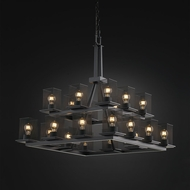 Justice Design MSH-8667 Wire Mesh Contemporary Chandelier Light