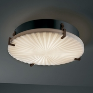 Justice Design PNA-5547-FM Porcelina� Faux Porcelain 16.5  Wide Ceiling Light Fixture