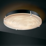 Justice Design PNA-5548-FM Porcelina� Faux Porcelain 24.5  Wide Flush Lighting