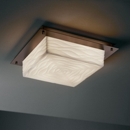 Justice Design PNA-5567-FM Porcelina� Faux Porcelain 16  Wide Flush Mount Light Fixture