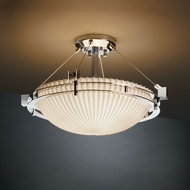 Justice Design PNA-8111 Porcelina� Faux Porcelain 22  Wide Flush Ceiling Light Fixture