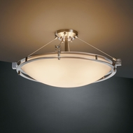 Justice Design PNA-8112 Porcelina� Faux Porcelain 12  Tall Flush Mount Ceiling Light Fixture