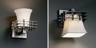 Justice Design POR-8175 Limoges� Porcelain 8.25  Tall Wall Lighting Sconce