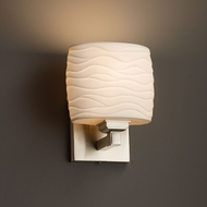 Justice Design POR-8437 Regency Limoges ADA Compliant Wall Light Sconce
