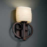 Justice Design POR-8587 Limoges� Porcelain 12.75 Tall Wall Mounted Lamp