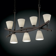 Justice Design POR-8598 Limoges� Porcelain 25  Tall Island Lighting