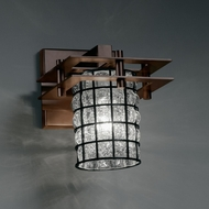 Justice Design WGL-8171 Wire Glass� 6.5  Wide Wall Lighting Fixture