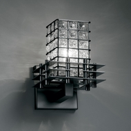 Justice Design WGL-8175 Wire Glass� 8.25 Tall Wall Light Sconce