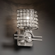 Justice Design WGL-8507 Wire Glass� 9  Wide Wall Sconce Light