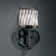 Justice Design WGL-8587 Wire Glass� 12.75 Tall Wall Sconce