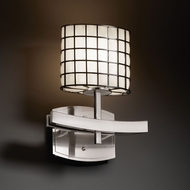 Justice Design WGL-8597 Wire Glass� 11 Tall Wall Lamp
