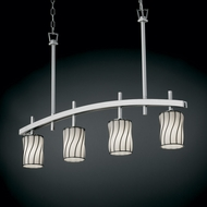 Justice Design WGL-8599 Wire Glass� 25  Tall Island Light Fixture