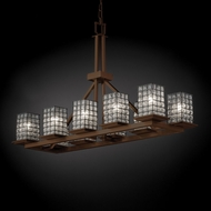 Justice Design WGL-8650 Wire Glass� 14  Wide Island Lighting
