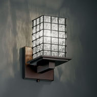 Justice Design WGL-8671 Wire Glass� 5.25 Wide Sconce Lighting