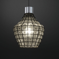 Justice Design WGL-8812 Wire Glass Modern Mini Hanging Pendant Lighting