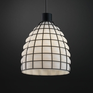 Justice Design WGL-8814 Wire Glass Modern Mini Pendant Hanging Light