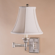 JVI Designs 106 Swing Arm 9 Inch Tall Wall Lamp With Finish Options