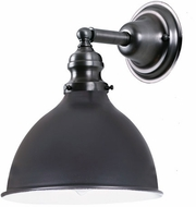 JVI Designs 1210-18-M4 Union Square Nautical Gun Metal Wall Sconce