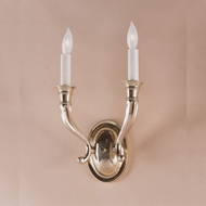 JVI Designs 230 8 Inch Wide 2 Candle Wall Sconce - Transitional
