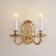 JVI Designs 310 Transitional 2 Candle Polished Brass Wall Light
