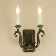 JVI Designs 320 Transitional 10 Inch Tall Wall Mounted Lamp Sconce - 2 Candles