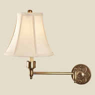 JVI Designs 329 Swing Arm Rubbed Brass Wall Lamp - 19 Inches Tall