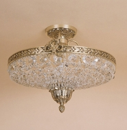 JVI Designs 408 Pewter 15 Inch Diameter Semi Flush Traditional Ceiling Light