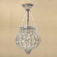 JVI Designs 414 Traditional Style 17 Inch Tall Pewter Semi Flush Lighting