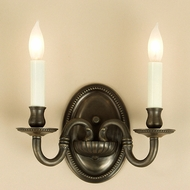 JVI Designs 510 Transitional Style 2 Candle 8 Inch Wide Lamp Sconce