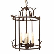 JVI Designs 934 4 Candle Rustic Pendant Lamp With Finish Options - 19 Inches Tall