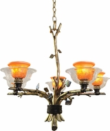 Kalco 2521 Cottonwood Country Halogen Chandelier Lighting