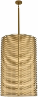 Kalco 312753VBR Paloma Contemporary Vintage Brass LED Drum Hanging Light