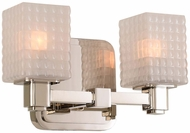 Kalco 313932PN Avanti Modern Polished Nickel LED 2-Light Bathroom Vanity Lighting
