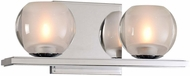 Kalco 315032CH Corona Contemporary Chrome LED 2-Light Bath Sconce