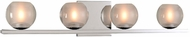 Kalco 315034CH Corona Contemporary Chrome LED 4-Light Bathroom Wall Sconce
