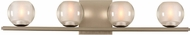 Kalco 315034SN Corona Modern Satin Nickel LED 4-Light Bath Wall Sconce