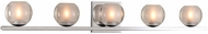 Kalco 315035CH Corona Contemporary Chrome LED 5-Light Bathroom Light Sconce