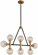 Kalco 315453BBB Cameo Contemporary Matte Black Finish with Brushed Pearlized Brass Kitchen Island Light