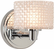 Kalco 315531CH Willow Contemporary Chrome LED Wall Light Sconce