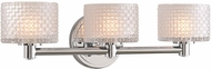 Kalco 315533CH Willow Contemporary Chrome LED 3-Light Vanity Lighting