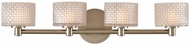 Kalco 315534SN Willow Modern Satin Nickel LED 4-Light Bath Lighting Fixture