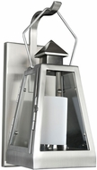 Kalco 400520SL Revere Contemporary Stainless Steel Exterior Small Wall Light Fixture