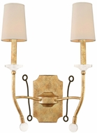 Kalco 500820HG Waverly Honey Gold Wall Light Fixture