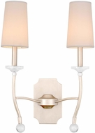 Kalco 500821PS Waverly Pearl Silver Wall Mounted Lamp