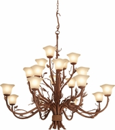 Kalco 5040 Ponderosa Country Ponderosa Lighting Chandelier